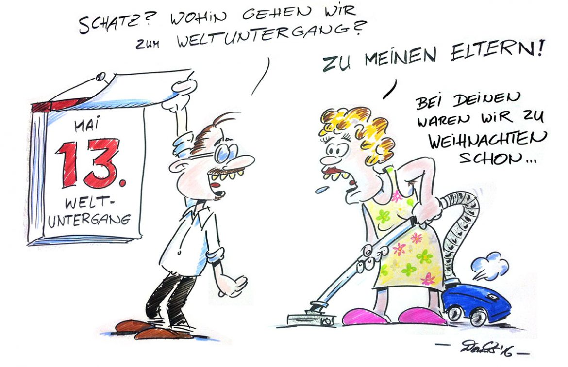 Cartoon Weltuntergang
