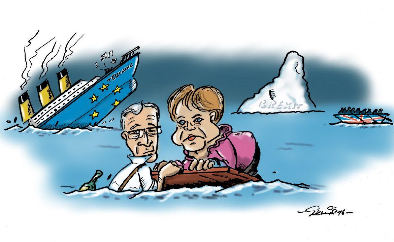 tEUtanic Brexit Merkel Junker