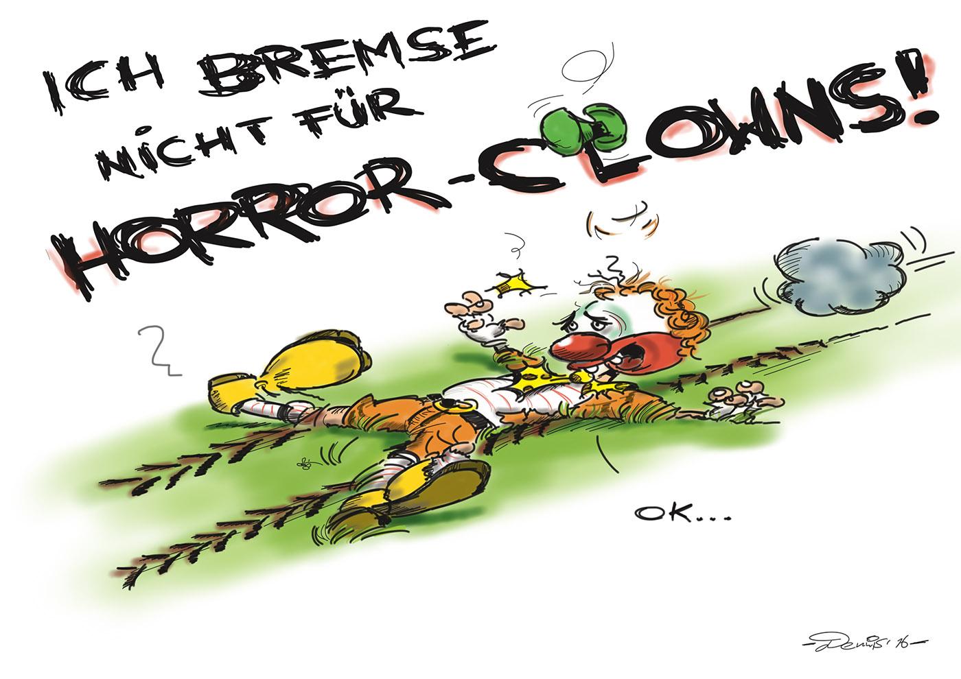 Karikatur Horrorclown
