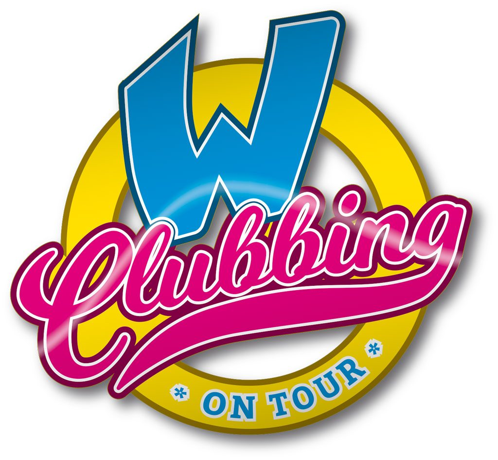 Event Design W-Clubbing Logo on Tour